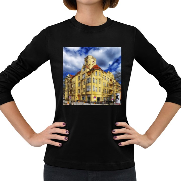 Berlin Friednau Germany Building Women s Long Sleeve Dark T-Shirts