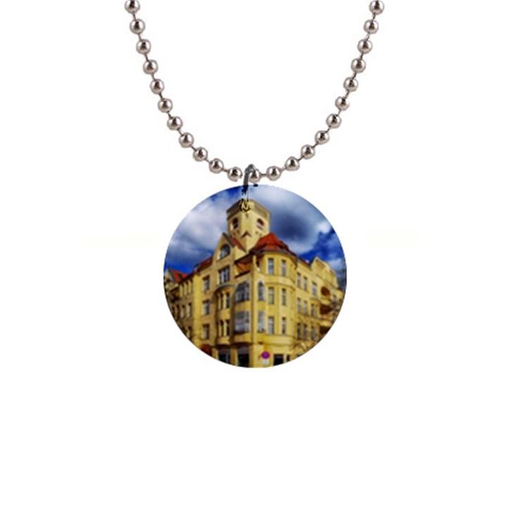Berlin Friednau Germany Building Button Necklaces