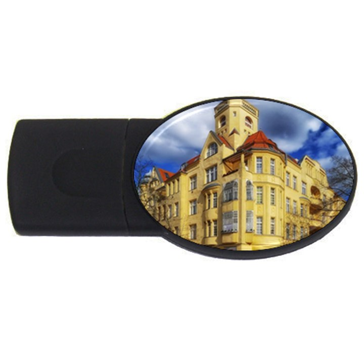Berlin Friednau Germany Building USB Flash Drive Oval (4 GB)