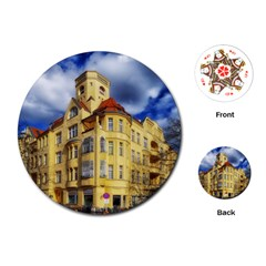 Berlin Friednau Germany Building Playing Cards (Round)