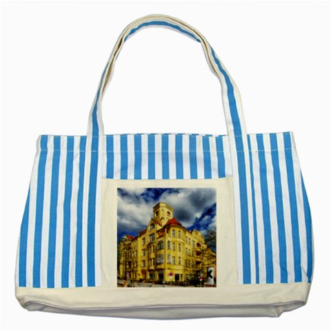 Berlin Friednau Germany Building Striped Blue Tote Bag