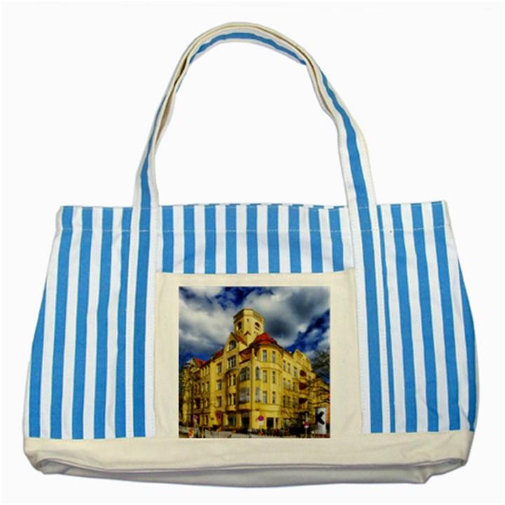 Berlin Friednau Germany Building Striped Blue Tote Bag