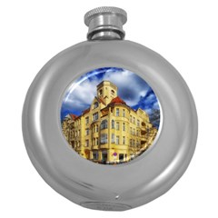 Berlin Friednau Germany Building Round Hip Flask (5 oz)