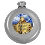 Berlin Friednau Germany Building Round Hip Flask (5 oz) Front