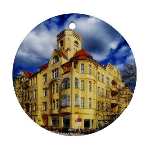 Berlin Friednau Germany Building Round Ornament (Two Sides)