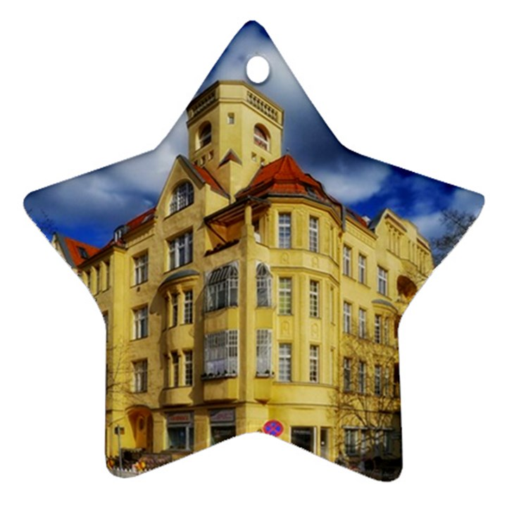Berlin Friednau Germany Building Star Ornament (Two Sides)