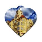 Berlin Friednau Germany Building Dog Tag Heart (Two Sides) Back