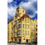 Berlin Friednau Germany Building 5.5  x 8.5  Notebooks Back Cover