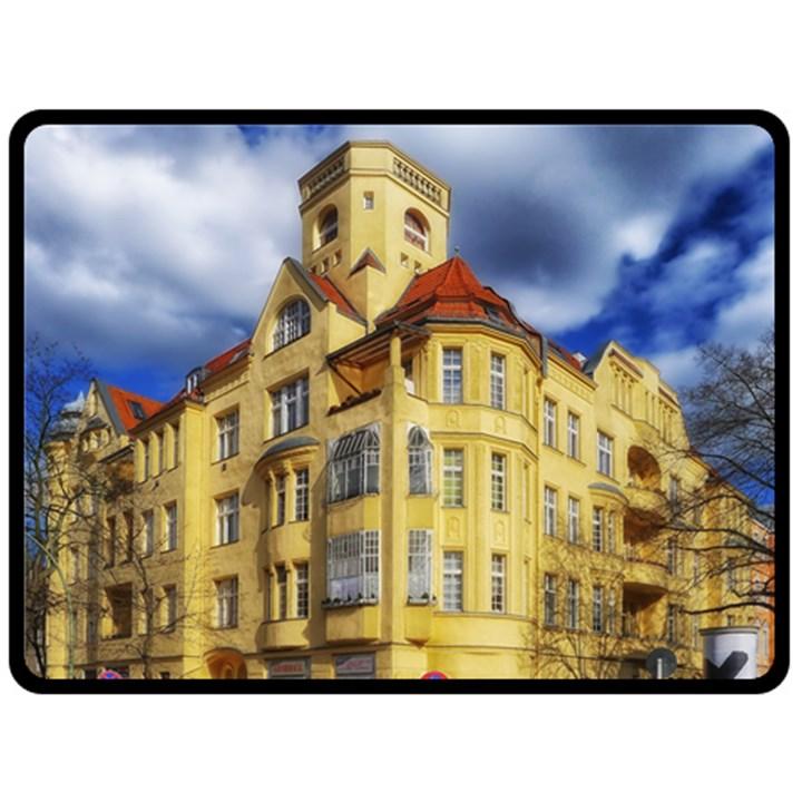 Berlin Friednau Germany Building Fleece Blanket (Large)