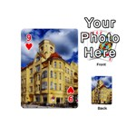 Berlin Friednau Germany Building Playing Cards 54 (Mini)  Front - Heart9