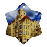 Berlin Friednau Germany Building Snowflake Ornament (2-Side) Back