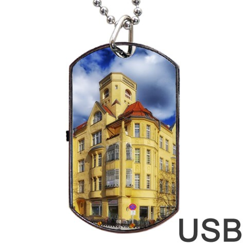 Berlin Friednau Germany Building Dog Tag USB Flash (Two Sides)