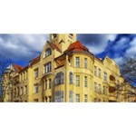 Berlin Friednau Germany Building Twin Hearts 3D Greeting Card (8x4) Front