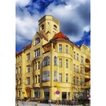 Berlin Friednau Germany Building Apple 3D Greeting Card (7x5) Inside