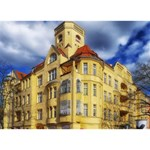 Berlin Friednau Germany Building Peace Sign 3D Greeting Card (7x5) Back