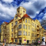 Berlin Friednau Germany Building BELIEVE 3D Greeting Card (8x4) Inside