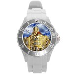Berlin Friednau Germany Building Round Plastic Sport Watch (L) Front