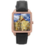 Berlin Friednau Germany Building Rose Gold Leather Watch  Front