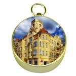 Berlin Friednau Germany Building Gold Compasses Front