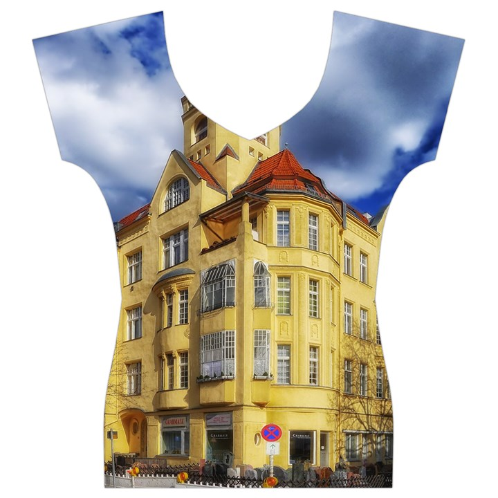 Berlin Friednau Germany Building Women s V-Neck Cap Sleeve Top