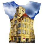 Berlin Friednau Germany Building Women s V-Neck Cap Sleeve Top Back