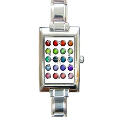 Button Icon About Colorful Shiny Rectangle Italian Charm Watch