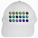 Button Icon About Colorful Shiny White Cap Front
