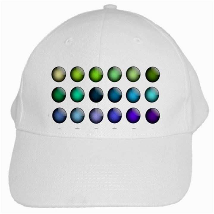 Button Icon About Colorful Shiny White Cap