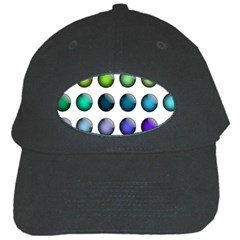 Button Icon About Colorful Shiny Black Cap