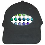 Button Icon About Colorful Shiny Black Cap Front