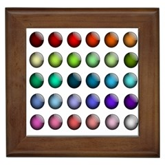 Button Icon About Colorful Shiny Framed Tiles