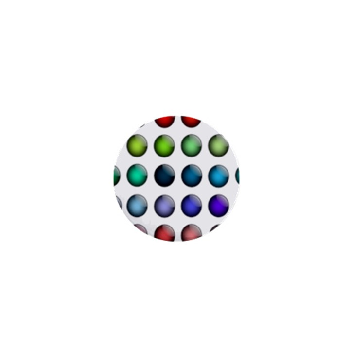 Button Icon About Colorful Shiny 1  Mini Magnets