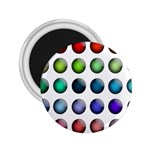 Button Icon About Colorful Shiny 2.25  Magnets Front