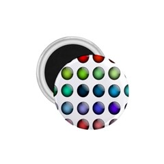 Button Icon About Colorful Shiny 1.75  Magnets