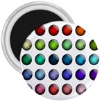 Button Icon About Colorful Shiny 3  Magnets Front