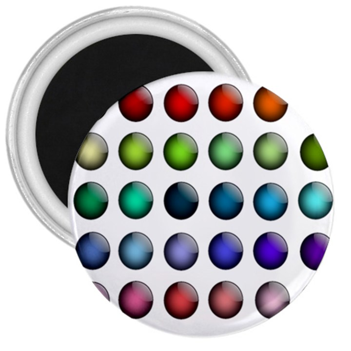 Button Icon About Colorful Shiny 3  Magnets