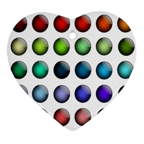 Button Icon About Colorful Shiny Ornament (Heart)