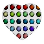 Button Icon About Colorful Shiny Ornament (Heart)  Front