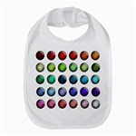 Button Icon About Colorful Shiny Bib Front