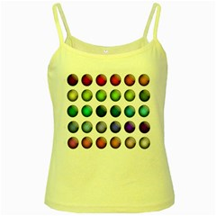 Button Icon About Colorful Shiny Yellow Spaghetti Tank