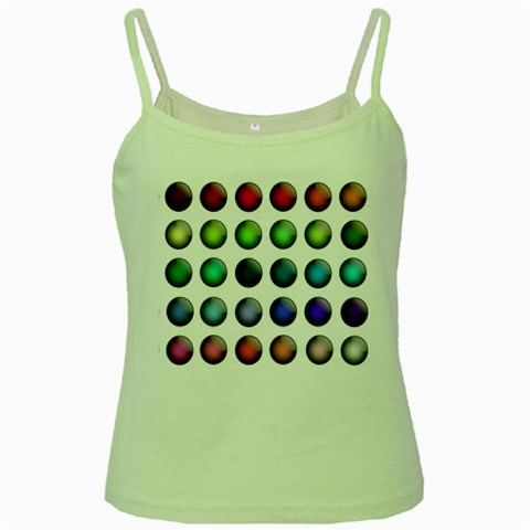 Button Icon About Colorful Shiny Green Spaghetti Tank