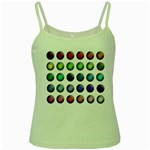 Button Icon About Colorful Shiny Green Spaghetti Tank Front