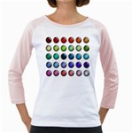 Button Icon About Colorful Shiny Girly Raglans Front