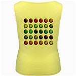 Button Icon About Colorful Shiny Women s Yellow Tank Top Back