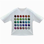 Button Icon About Colorful Shiny Infant/Toddler T-Shirts Front