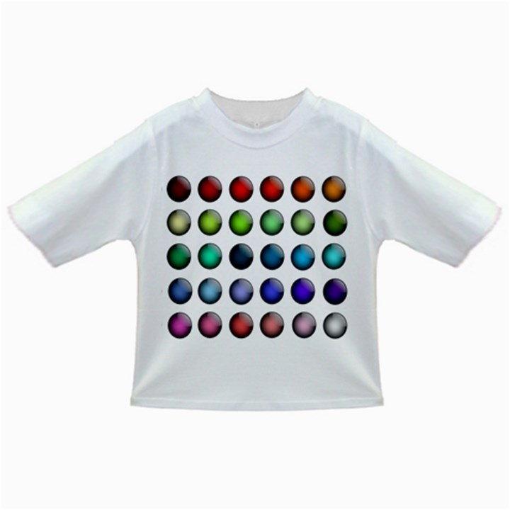 Button Icon About Colorful Shiny Infant/Toddler T-Shirts