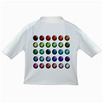 Button Icon About Colorful Shiny Infant/Toddler T-Shirts Back