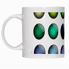 Button Icon About Colorful Shiny White Mugs