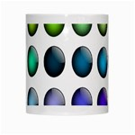 Button Icon About Colorful Shiny White Mugs Center