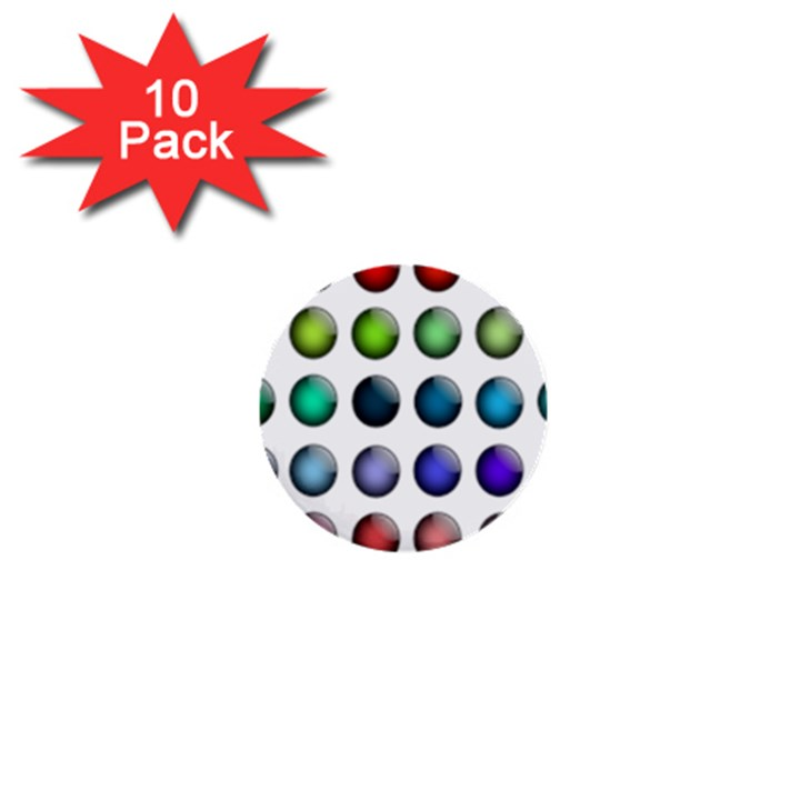 Button Icon About Colorful Shiny 1  Mini Buttons (10 pack)